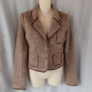 Abercrombie & Fitch cropped jacket Jr M brown